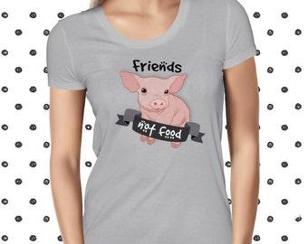 Animal Rights Tee Cute Vegan Tee Vegan Shirt Vegetarian Tee Plant Based Tee Friends Not Food Tee Animal Rights Tshirt Animal Love Tshirt