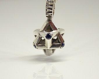 Merkaba pendant, Metatron's Cube, Sacred Geometry, Star of David, Shield of David, Yoga, Meditation, Healing Jewelry, Energy Jewelry