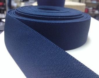 3.5 cm navy elastic, elastic by the yard, elastic waistband, elastic band