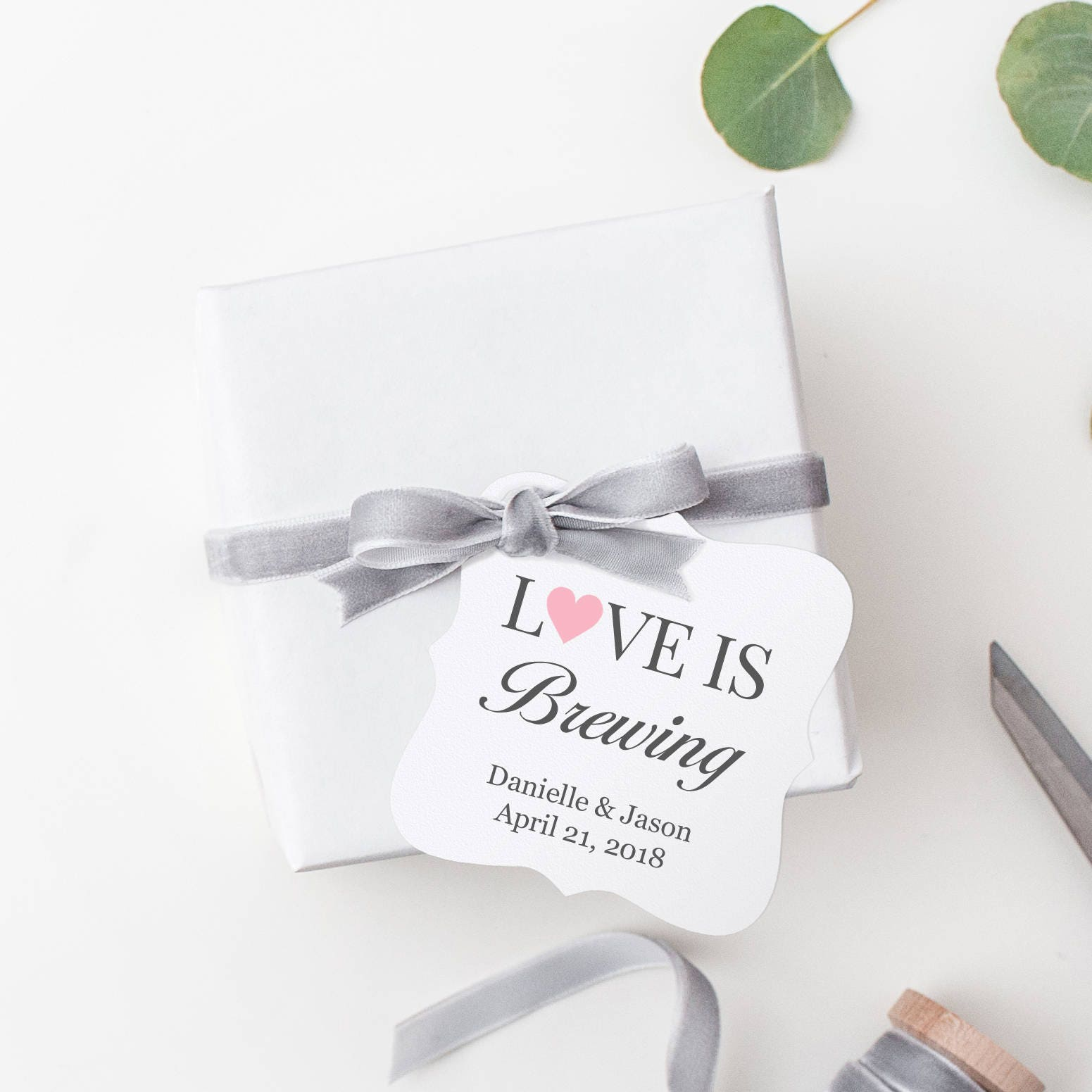 Love is brewing tags 30 Love is brewing favors Wedding