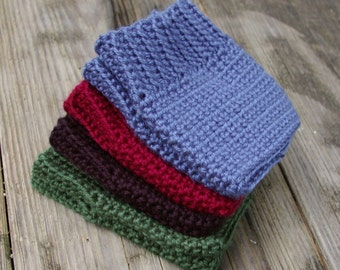 Boot Cuffs, Ribbed Boot Toppers, Choose Your Color: Green, Black, Red Denim Blue Boot Cuffs