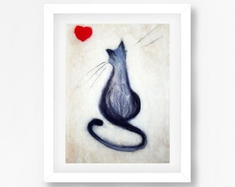 Cute Cat art Beautiful grey cat Pets lover gift Gift for cats lover Eco painting Fiber wall art Painting with wool Painting of a cat woolen