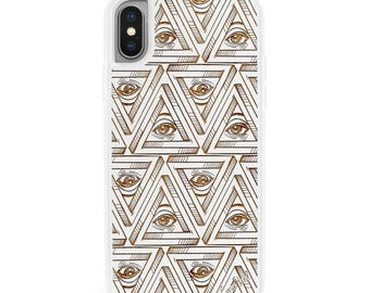 iPhone X Case iPhone 8 Plus Case iPhone 8 Wood Case iPhone 7 Plus Case iPhone 7 Case Samsung S8 (Regular Protective) All seeing Eye Pattern