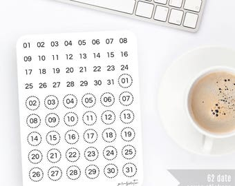 N05 | Date Cover Stickers | Number Stickers | Calendar Stickers | Planner Stickers | Bullet Journal Stickers