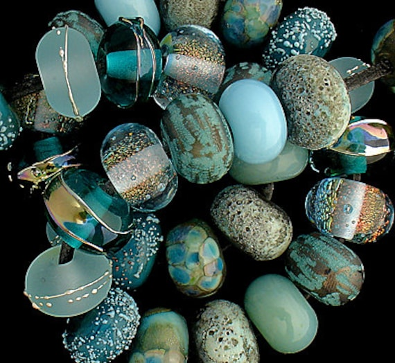 Lampwork Beads Glass Beads Beach Jewelry Bead Necklace Beaded Bracelet Jewelry Supplies For Jewelry Rustic Beads Pendant Debbie Sanders