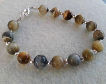 White Tiger eye energy bracelet