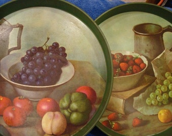 Set of Fruity serving trays