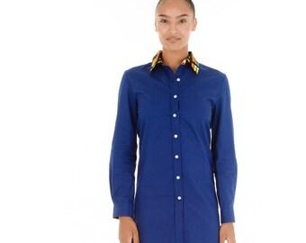 Tami Blue Shirt Dress