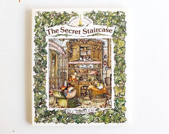 Brambly Hedge The Secret Staircase, by Jill Barklem, 1983 Hardcover Edition, ISBN 0399209948