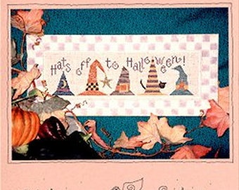 Lizzie Kate Hats Off to Halloween 001 Counted Cross Stitch Pattern Chart