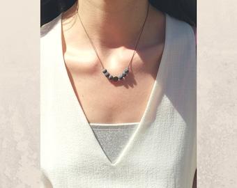 Minimalist aromatherapy necklace essential oil diffuser necklace lava stone diffuser jewelry essential oil aromatherapy necklace pyrite