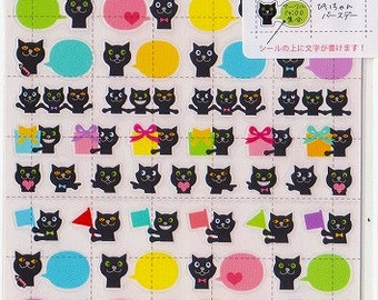Black Cat Stickers - TWO SHEET SET - Schedule Planner Stickers - Reference T5779