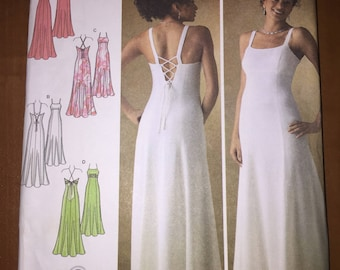 Simplicity Sewing Pattern 4143 Misses Evening Gown With Back Variations Size 6-14