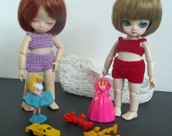 Red undie set for AI BJD