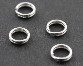 Sterling silver 6mm Split Ring, 1 Piece, Sold INDIVIDUALLY, Just buy as many you need, (SS/750/6)