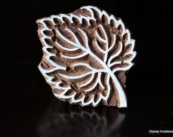 Pottery Stamps, Indian Wood Stamp, Textile Stamp, Wood Blocks, Tjaps, Printing Stamp- Leaf 3