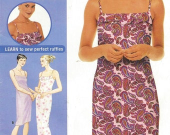 Womens Summer Dress in 2 Lengths Simplicity Sewing Pattern 9616 Size 14 16 18 20 Bust 36 38 40 42 UnCut Sewing Pattern