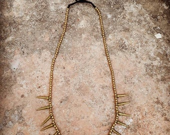 Spiked tribal necklace, gypsy necklace, ethnic necklace
