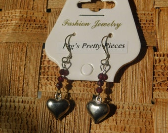 Gemstone Earrings on Sterling Wires, Assorted Stones and Charms Available