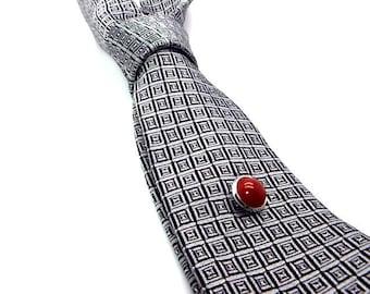 Red Carnelian Tie Tac, Red Tie Tac, Red Carnelian Tie Pin, Red Tie Pin, Tie Tac, Tie Pin
