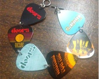 Guitar pick bracelet made with Doors guitar picks