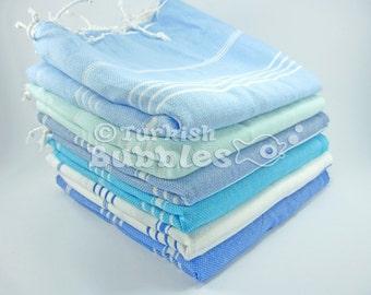 Set of 6 Turkish Towel, Bridesmaid Gift, Cotton Peshtemal, Beach Towel, Wedding Favor, Bath and Beauty, Beach Wedding