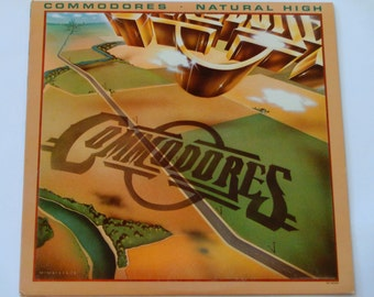 "The Commodores - Natural High - ""Three TImes a Lady"" - Soul - R & B - Original Motown Records 1978 - Vintage Vinyl LP Record Album"