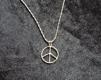 silver piece necklace