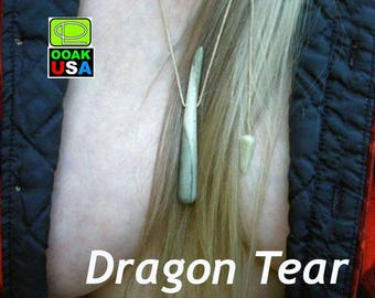 Dragon Tear all-natural stone dragon amulet necklace