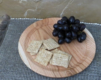 Lunch Snack Plate - Hand Turned Wood - California White Oak