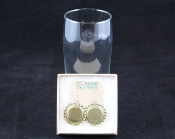 Bottle Cap Earrings (Gold)
