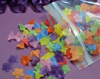 25 g (approximately 210) beads acrylic flower 10mm