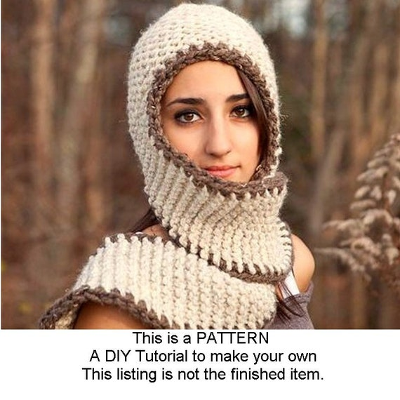 Instant Download Knitting Pattern - Knit Scarf Pattern - Knit Hat Pattern  Garter Series Hats - Womens Scarf Hat Pattern Womens Chunky Scarf