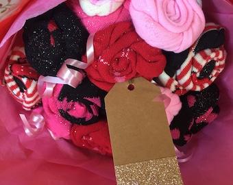 Size 9-11 ladies sock bouquet