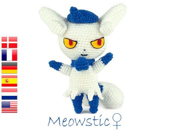 Crochet pattern Meowstic (Pokemon)
