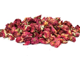 Rose Flowers, 5g - 50g Dried, Rabbit Treat, Reptile, Chinchilla, Tortoise Food Supplies, Degu, Guinea Pig, Hamster, Dried Petals