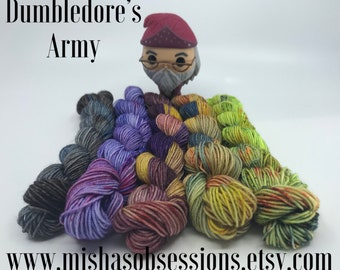 Dumbledore's Army mini skein set- 93 yds each 465 yds total