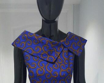 African print pencil dress