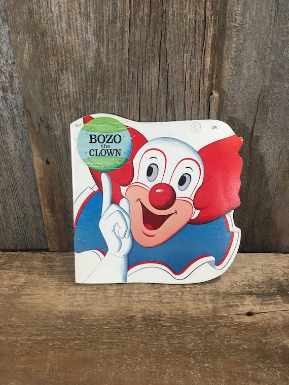 Vintage Bozo the Clown A Golden Shape Book,, Larry Harmon's TV Bozo the Clown, vintage from 1972, Vintage A Golden Shape book, Golden Press