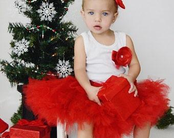 Christmas Dress | Christmas Shirt | Girls Red Dress | Ruby Red Dress | Christmas Gifts for Baby Girls | 1st Christmas Dress | Red Tutu