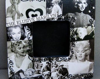 Blonde Movie Star Hollywood Icon Starlet Handmade Decoupaged Picture Frame