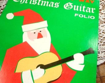 Mel Bay's Christmas Guitar Folio, Easy Way, Santa, 20 Christmas Songs, Carols, Solo Arrangements, Jingle Bells, Silent Night, 1966  (644-15)