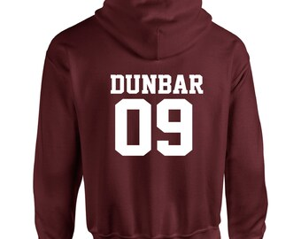 Liam Dunbar Inspired Wolf Teen Beacon Hills Lacrosse Adult Hooded Sweatshirt With Print on Rear Only Hoodie