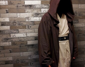 STAR WARS Jedi Robe Cloak Costume Adult Sith  Force Awakens Obi Wan Luke Replica