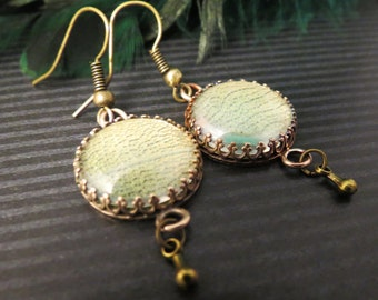 Leaf Lace Earrings in Bronze  Remnants Collection