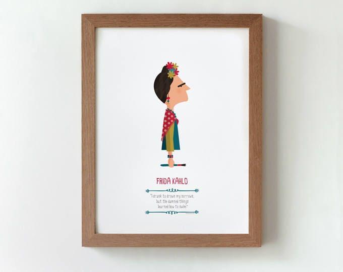 """Ilustración """"Frida Kahlo""""."""