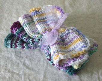 Dish Cloth set of 4, Purples color theme