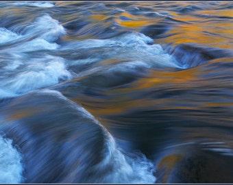 Autumn Foliage Reflection - Color Photo Print - Large Photo Print - Fine Art Nature Photography (NP01)