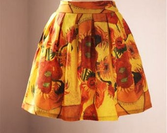 Come back!! FineArt Collection Van Gogh's sunflower skirt