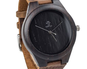 Men's Wood Watch. Personalized Engraving Available. Gift for Groomsmen, Boyfriend, or Dad. Wedding or Anniversary Gift , Father's Day Gift.